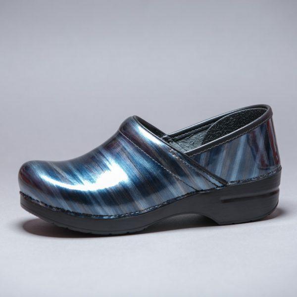 Womens Blue Clog Shoe Fabric